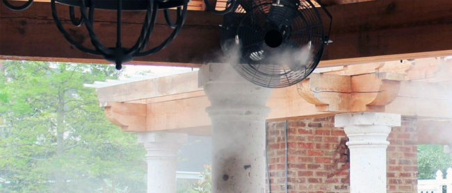 Mist Cooling Systems for Hotels and resorts